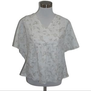 HRNG caftan Top with open back